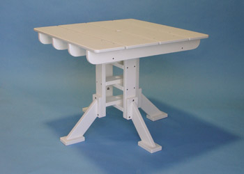 Recycled Plastic Square Dining Table