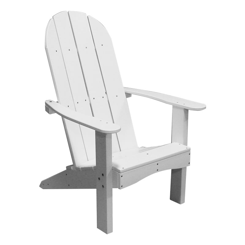 Recycled Plastic Round Back Adirondack Chair