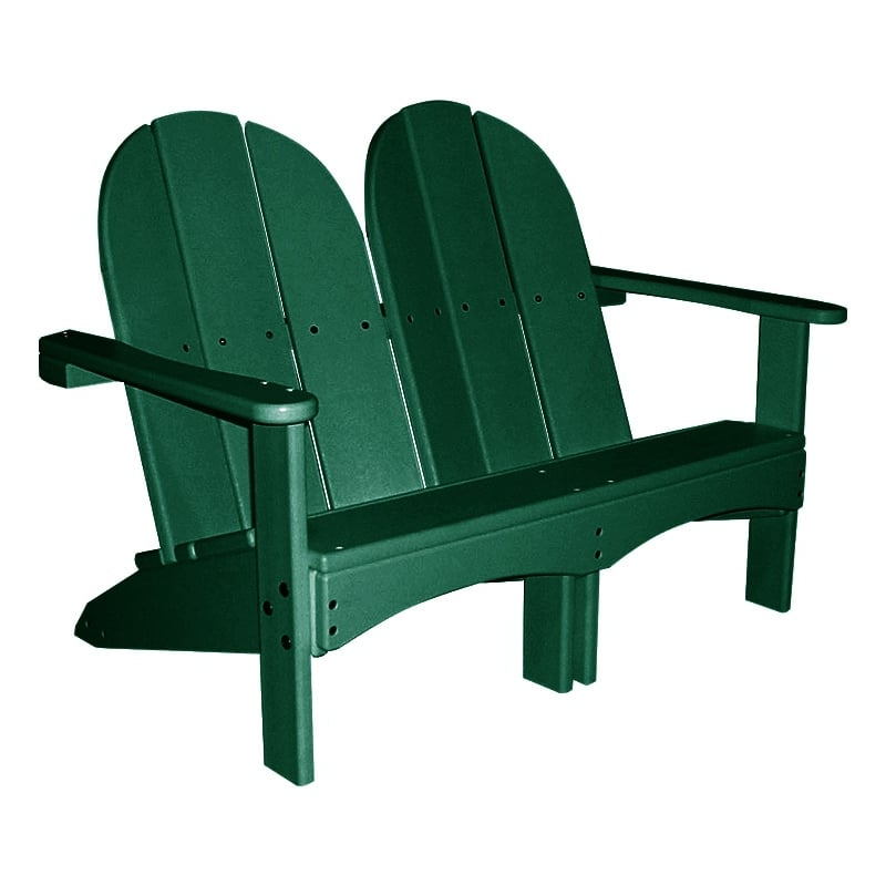 recycled plastic kids double adirondack chair. Black Bedroom Furniture Sets. Home Design Ideas