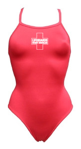 b1cda3de2cf52 Red Lifeguards Without Borders Women s swimsuit