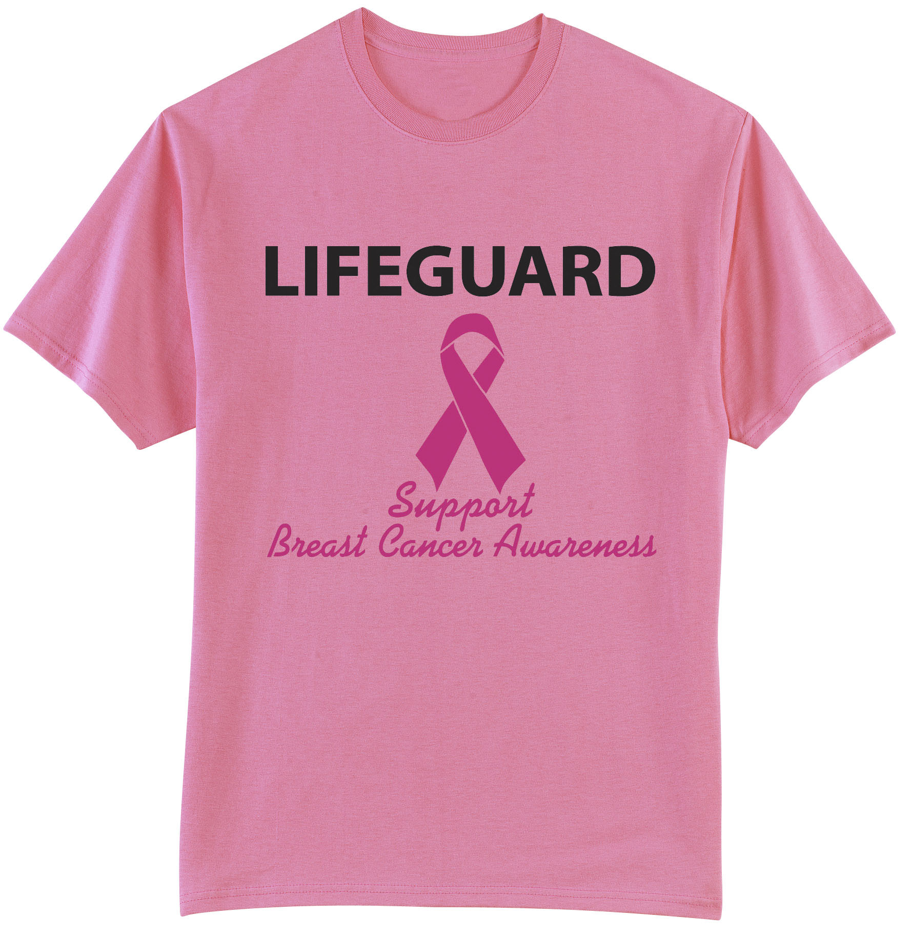 breast cancer awareness lifeguard t shirt