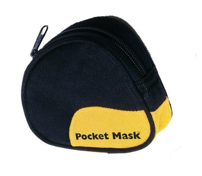 Laerdal Pocket Mask with Gloves and Wipe in Black Soft Case