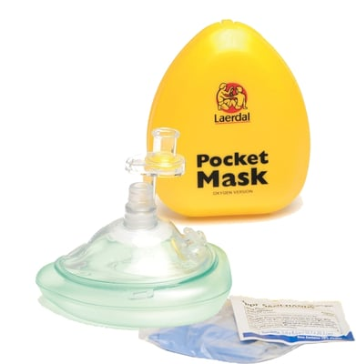 Laerdal Pocket Mask With Case And O2 Inlet