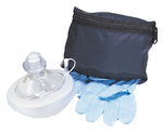 CPR Micromask with Nitrile gloves and no oxygen inlet