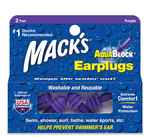 Mack's ® AquaBlock Pre-molded Flanged Earplugs 2 pair box