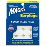 Mack's ® Pillow Soft Moldable Silicone Ear Plugs 6 pair box