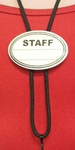 Staff Name Tag with Black Breakaway Lanyard