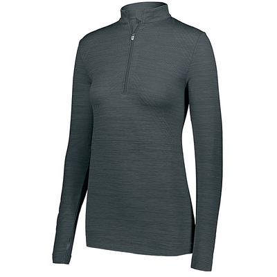 Ladies Striated 1/2 Zip Pullover