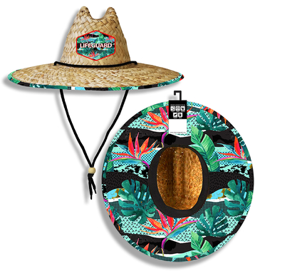 Tropical Paradise Lifeguard Straw Hat