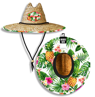 Pineapple Lifeguard Straw Hat