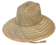 Blank Lifeguard Straw Hat