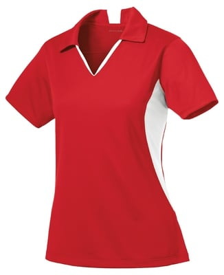Ladies Side Blocked Micropique Polo
