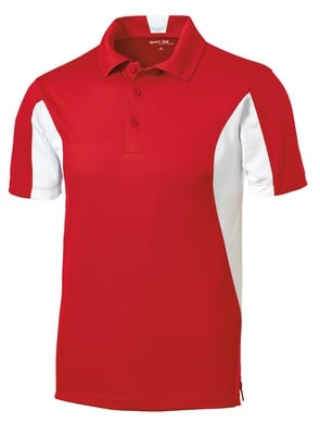 Men's Side Blocked Micropique Polo