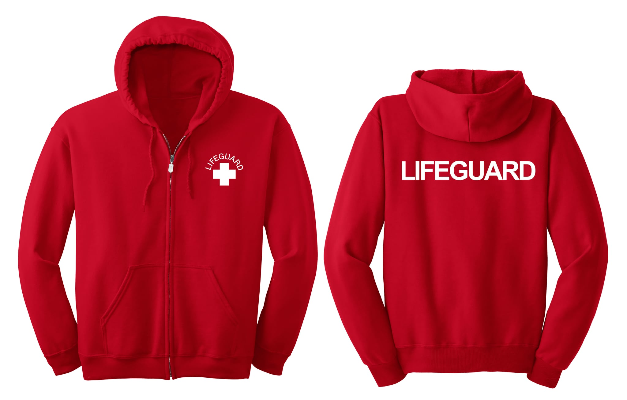 Lifeguard Zip Front Hooded Sweatshirt