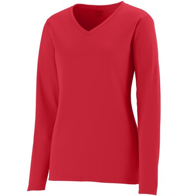 Ladies Moisture Wicking Long Sleeve T-shirt