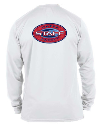 Moisture Wicking Water Safety Staff Long Sleeve T-Shirt