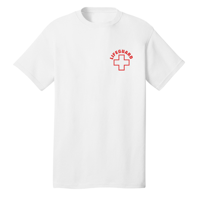 Lifeguard & Cross Outline T-shirt